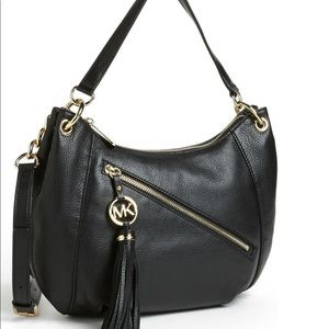 Michael Kors Charm Tassel Purse Black NWT